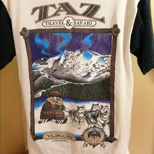 Vintage Looney Tunes Taz Travel Safari Yukon T